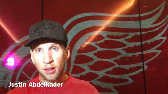 Red Wings captain Henrik Zetterberg, goalie Jimmy Howard, forward Justin Abdelkader and coach Jeff Blashill discuss the 3-2 loss to the Lightning on Monday, Oct. 16, 2017, at Little Caesars Arena. Video by Helene St. James/DFP