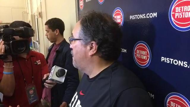 Pistons' Stan Van Gundy on his team's shooting