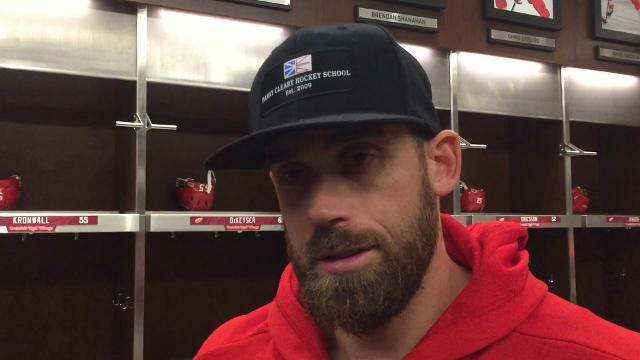 Red Wings forward Dylan Larkin, captain Henrik Zetterberg and coach Jeff Blashill take questions on Tuesday, Oct. 17, 2017. Video by Helene St. James/DFP