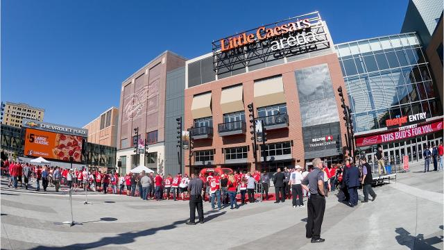 The differences for Red Wings, Pistons at Little Caesars Arena
