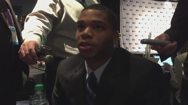 Miles Bridges, Tom Izzo and Tum Tum Nairn discuss the excitement of the Spartans' upcoming season during Big Ten media day at Madison Square Garden in New York on Thursday, Oct. 19, 2017.