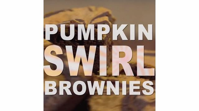 How to make Pumpkin Swirl Brownies