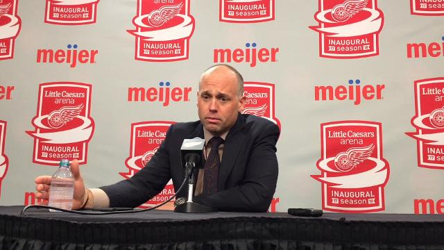 Red Wings' Jeff Blashill on relationship with Andreas Athanasiou