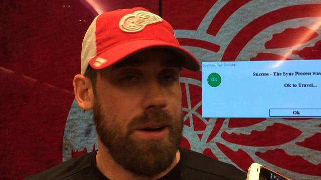Detroit Red Wings captain Henrik Zetterberg answers questions Monday , Oct. 23,  2017 at Little Caesars Arena. Video by Helene St. James, DFP.