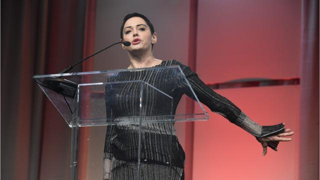 Actress Rose McGowan snapped back at a Detroit Free Press reporter when she asked her why she didn't mention Weinstein's name during her speech at the Women's Convention in Detroit.