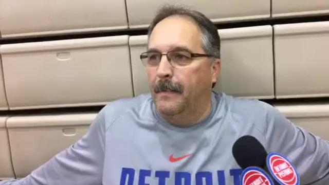 Pistons coach/president Stan Van Gundy addressed the media after practice on Friday, Oct. 27, 2017, in Los Angeles. Video by Vince Ellis/DFP