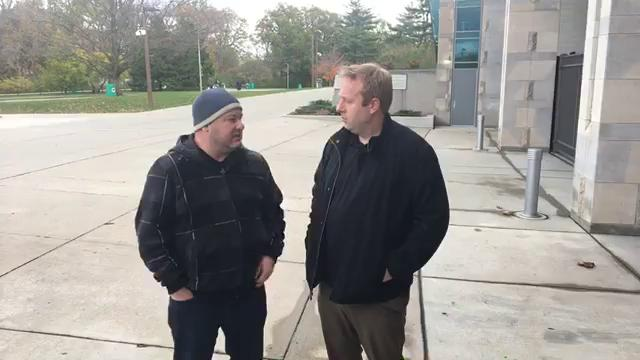 Free Press sports writer Chris Solari and Lansing State Journal columnist Graham Couch talk all things MSU on Tuesday, Oct. 31, 2017, in East Lansing.