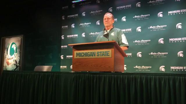 Michigan State coach Tom Izzo addresses the media on Tuesday, Oct. 31, 2017, in East Lansing. Video by Chris Solari/DFP