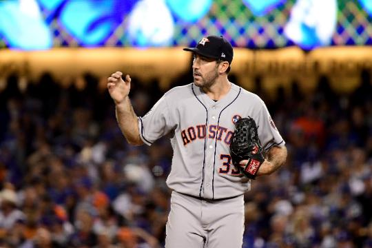 Astros pitcher Justin Verlander speaks to the media after the 3-1 loss to the Dodgers in Game 6 of the World Series on Tuesday, Oct. 31, 2017, in Los Angeles. Video by Anthony Fenech/DFP