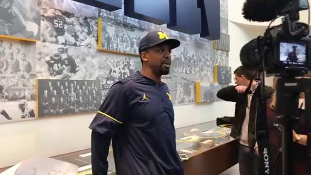 Michigan passing game coordinator Pep Hamilton discusses redshirt freshman Brandon Peters' recent performance and the passing game in general with reporters in Ann Arbor.
