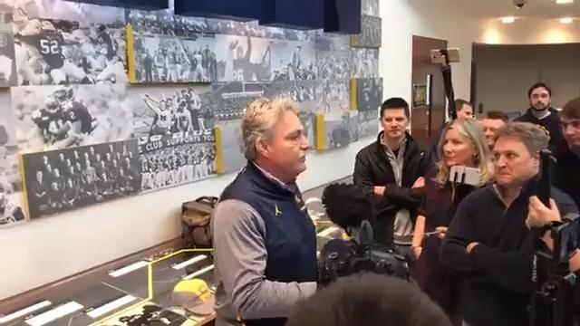 Michigan defensive coordinator Don Brown met with reporters to recap the Wolverines' defensive effort last week during a 35-14 win over Rutgers at Michigan Stadium in Ann Arbor.