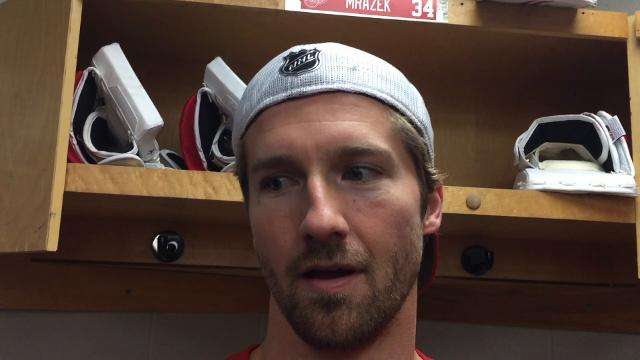 Red Wings coach Jeff Blashill and forward Darren Helm answer questions Thursday, Nov. 1 at Canadian Tire Center. Video by
