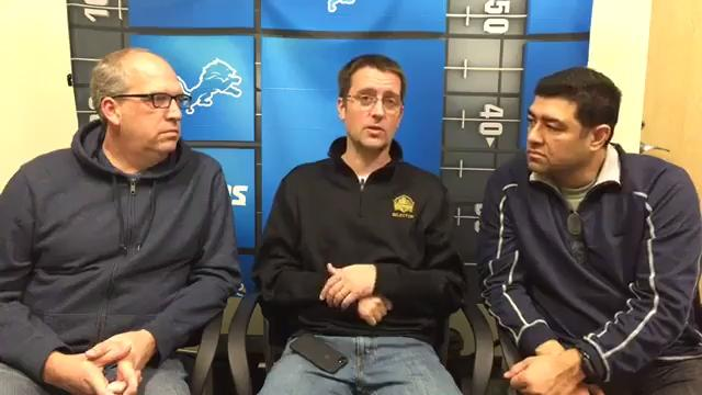 "Dave Birkett, Shawn Windsor and Carlos Monarrez talk Lions-Packers on ""Monday Night Football."""