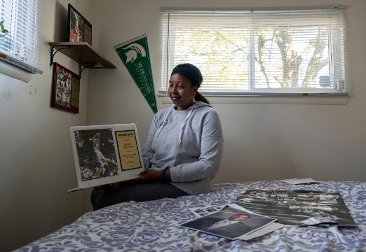Cynthia Bridges, mother of Michigan State University basketball star Miles Bridges, talks about her son getting into basketball.