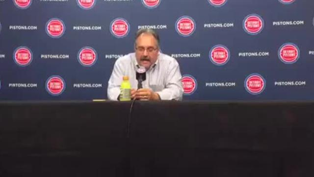 Pistons coach Stan Van Gundy discusses the impact of newcomer Avery Bradley, Ish Smith's energetic play and the team's ball movement after the 108-99 win over the Kings at LCA, Saturday, Nov. 4. 2017.