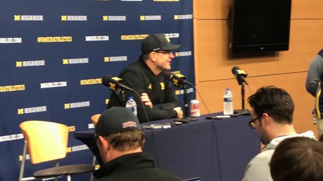Jim Harbaugh recaps Michigan's win over Minnesota.