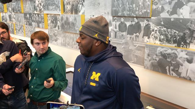 Michigan's Cesar Ruiz recaps his first start on the Wolverines offensive line.