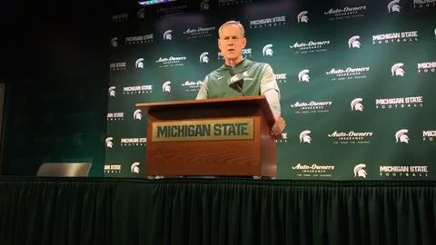 Michigan State University football coach Mark Dantonio previews Spartans' game at Ohio State.