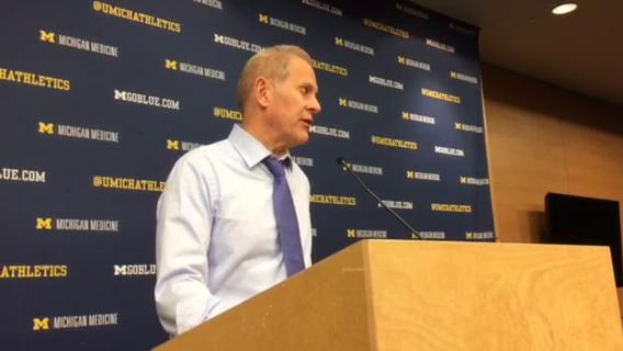 Michigan coach John Beilein speaks to the media after the 86-66 win over North Florida on Saturday, Nov. 11, 2017, at Crisler Center. Video by Chris Nelsen/Special to DFP