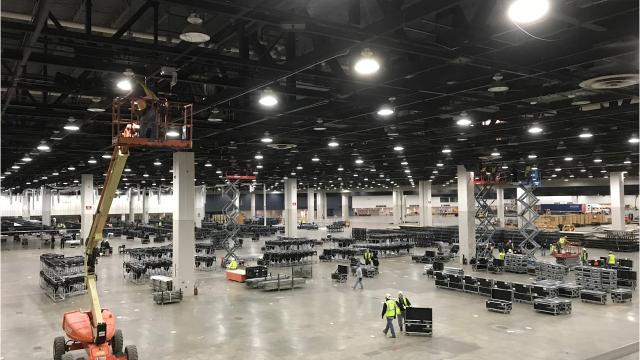 The 2018 North American International Auto Show does not start until January, but the construction needed for the hundreds of exhibits and displays at Cobo Center in Detroit is already under way.
