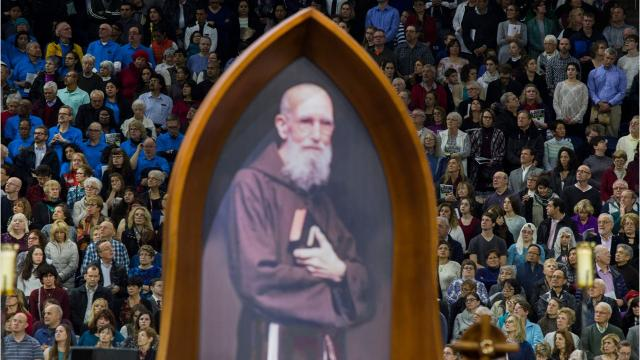 "The Roman Catholic Church officially recognized the Father Solanus Casey as a miracle worker, declaring him ""Blessed Solanus"" in a beatification ceremony at Detroit's Ford Field."