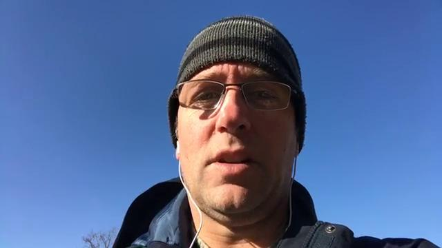 Free Press sports writer Dave Birkett dissects the Detroit Lions vs. Chicago Bears matchup as he walks to Soldier Field in Chicago on Sunday, Nov. 19, 2017.
