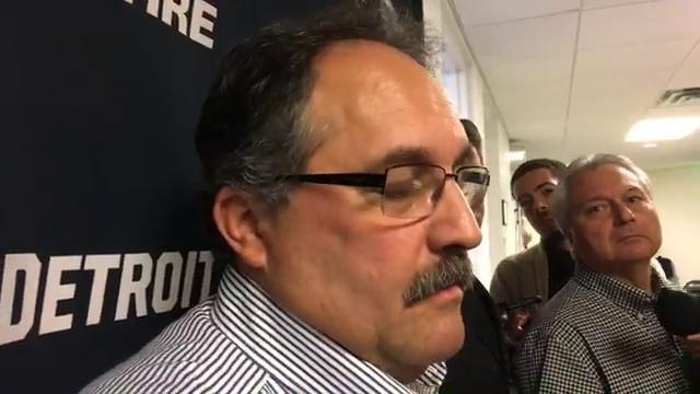 Pistons coach Stan Van Gundy speaks to the media before the game against the Minnesota Timberwolves on Sunday, Nov. 19, 2017, in Minneapolis. Video by Vince Ellis/DFP