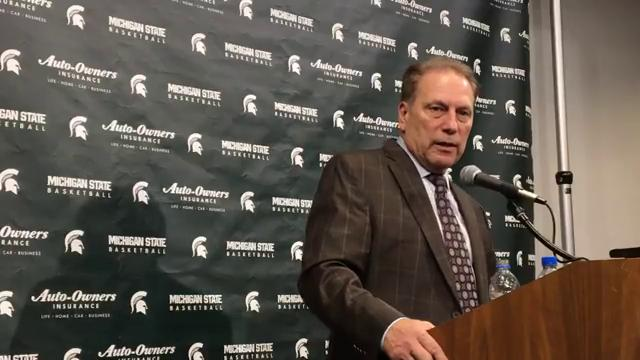 Michigan State coach Tom Izzo answers questions after the 93-71 win over Stony Brook on Sunday, Nov. 19, 2017, at Breslin Center. Video by Chris Solari/DFP