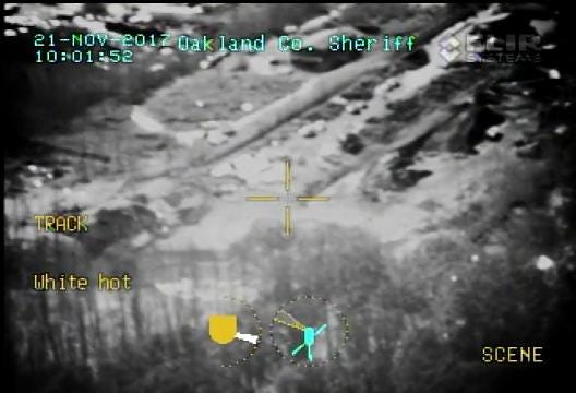 "Oakland County Sheriff's Office ""Air One"" captures video Orion Township gas line explosion site."