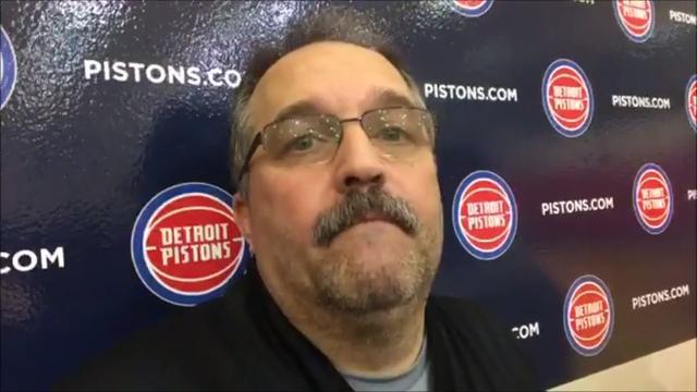Detroit Pistons coach Stan Van Gundy talks to the media after practice on Wednesday, Nov. 22, 2017.