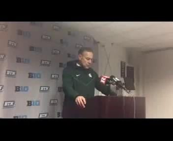 Michigan State coach Mark Dantonio speaks to the media after the 40-7 win over Rutgers in Piscataway, N.J., on Saturday, Nov. 2017. Video by Josh Mansour/Special to DFP