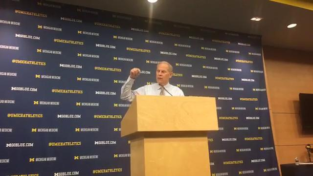 Michigan coach John Beilein speaks to the media after the 87-42 win over UC Riverside on Sunday, Nov. 26, 2017, at Crisler Center. Video by George Sipple/DFP