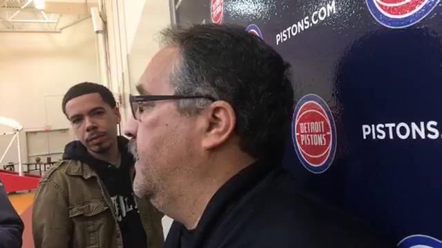 With the Detroit Pistons off to a good 14-6 start, coach Stan Van Gundy downplays the significance of the upcoming four-game trip. He also discusses the Washington Wizards missing star point guard John Wall and the status of Pistons big man Jon Leuer