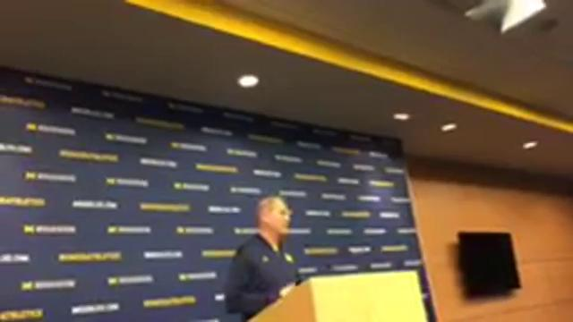 Michigan coach John Beilein speaks to the media on Friday, Dec. 1, 2017, in Ann Arbor, one day before taking on Indiana. Video by George Sipple/DFP