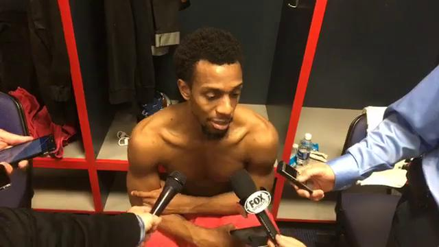 The Detroit Pistons guard Ish Smith talks about his performance during loss at Washington, 109-91, on Dec. 1, 2017.