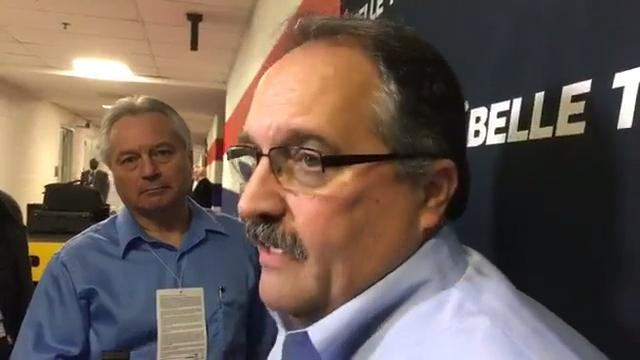 Detroit Pistons coach Stan Van Gundy talks about the team's performance at Washington Wizards in 109-91 loss on Dec. 1, 2017.