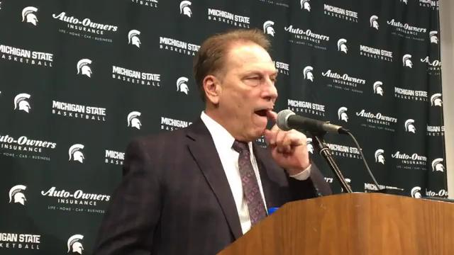 Michigan State coach Tom Izzo addresses the media after the 86-57 win over Nebraska on Sunday, Dec. 3, 2017, at Breslin Center. Video by Chris Solari/DFP