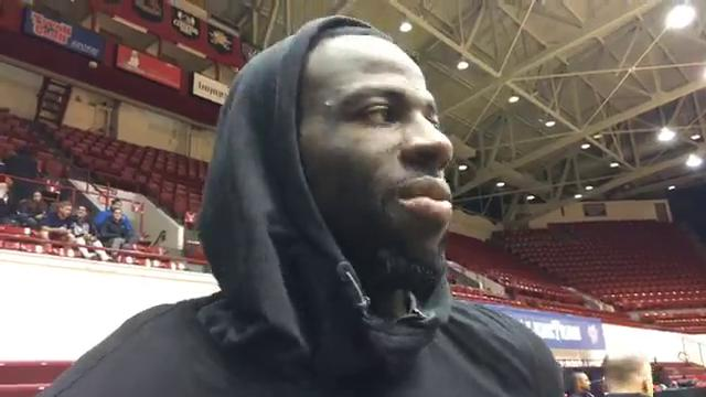 Golden State Warriors forward Draymond Green (Saginaw/MSU) says he's excited about the growth of Detroit and to play downtown at Little Caesars Arena on Friday vs. Pistons. Recorded Thursday, Dec. 7, 2017.