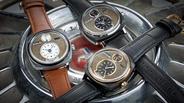 A Denmark-based company is selling handmade wristwatches made entirely from the parts of classic Ford Mustangs.