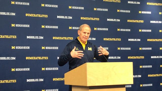 Michigan coach John Beilein looks ahead to the game at Texas on Monday, Dec. 11, 2017, in Ann Arbor. Video by Nick Baumgardner/DFP