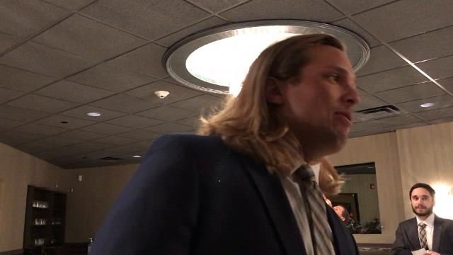 Michigan defensive lineman Chase Winovich spoke with the media on Tuesday, Dec. 12, 2017, at the U-M football bust in Livonia. Video by Nick Baumgardner/DFP