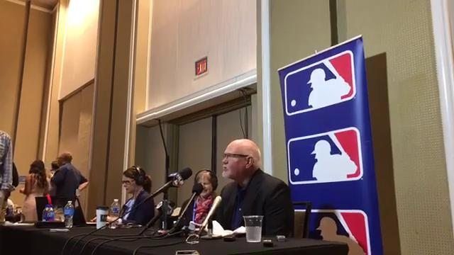 Tigers manager Ron Gardenhire answers questions from the winter meetings in Orlando on Dec. 13, 2017.