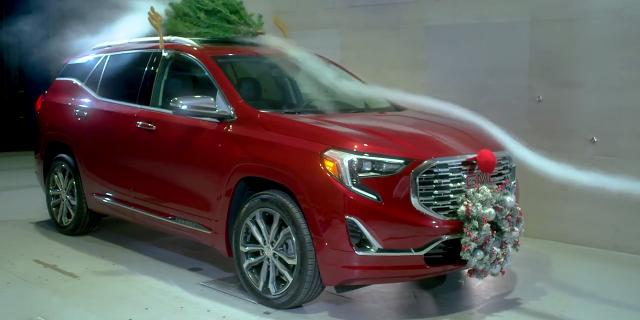 General Motors engineers in the holiday mood tested the effect of holiday decorations on gas mileage.