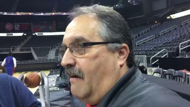 Detroit Pistons coach Stan Van Gundy says Reggie Bullock starting at small forward is likely not a short-term thing.