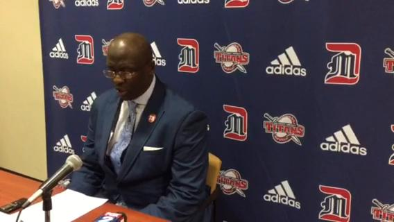 Detroit Mercy basketball coach Bacari Alexander talks about the team's loss to Toledo.
