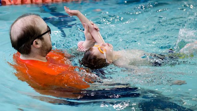 Goldfish Swim School in Birmingham, Mich. offers swim lessons for children 4 months to 12 years of age to help them become comfortable and confident in the water.