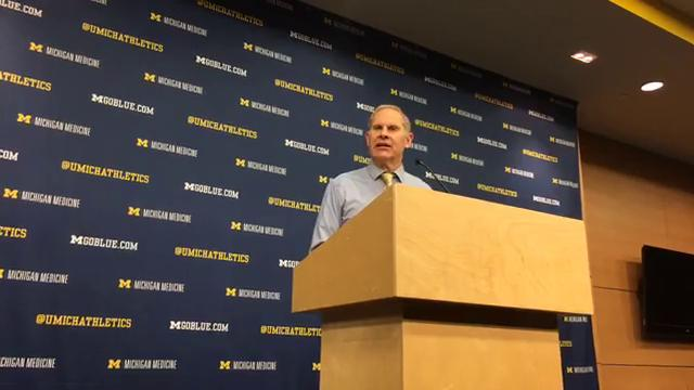Michigan coach John Beilein answers questions from the media after the 70-69 loss to Purdue on Tuesday, Jan. 9, 2018, at Crisler Center. Video by George Sipple/DFP