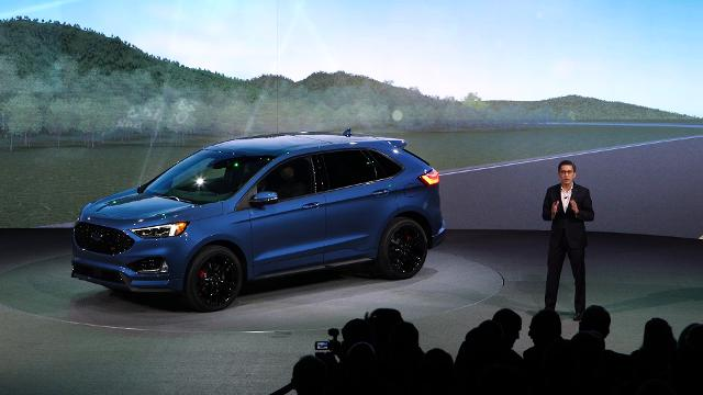 """The Ford 2019 Edge ST """"puts a new animal on the road"""" and includes driver assist tech designed to avoid accidents and lower stress."""