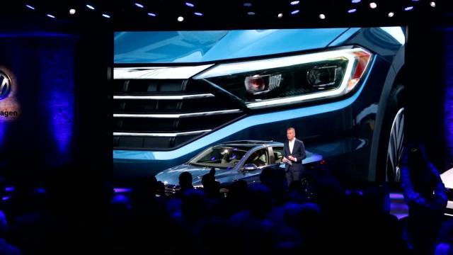 Volkswagen unveils the 2019 Jetta at Garden Theater in Detroit, Sunday, Jan. 14, 2018.