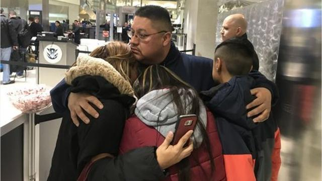After 30 years of living in the U.S, a 39-year-old Lincoln Park man was deported this morning from Detroit Metro Airport to Mexico as family and friends wiped away tears.